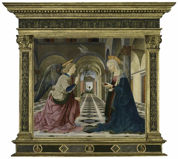 The Annunciation (c. 1487), Piermatteo d'Amelia. Courtesy of Isabella Stewart Gardner Museum, Boston