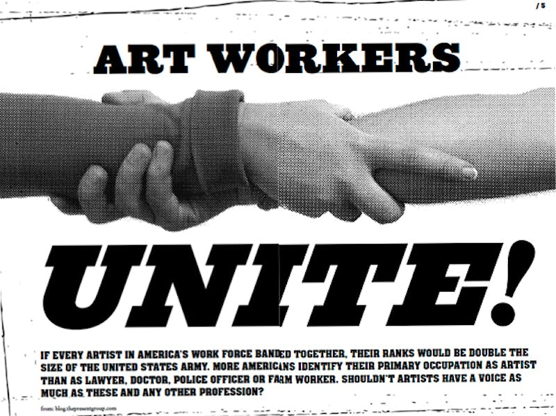 Image from the Artist Bloc No. 1 zine, created by a group of Bay Area artists, scholars, and writers in 2011