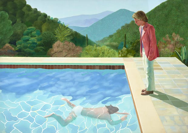 Portrait of an Artist (Pool with Two Figures) (1972), David Hockney. © David Hockney / Photo Credit: Art Gallery of New South Wales / Jenni Carter