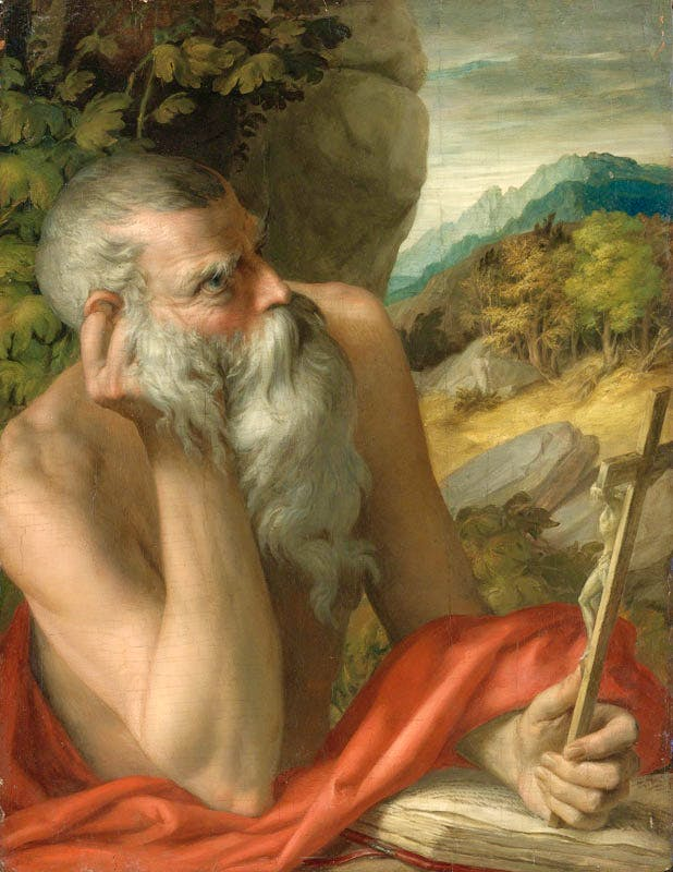 This painting of St Jerome was believed to be by Parmigianino, but has been declared a fake by Sotheby's after tests found modern pigments