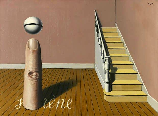 La lecture défendue (1936), René Magritte. Royal Museums of Fine Arts of Belgium, Brussels, Photo: J. Geleyns © VG Bild-Kunst, Bonn 2017