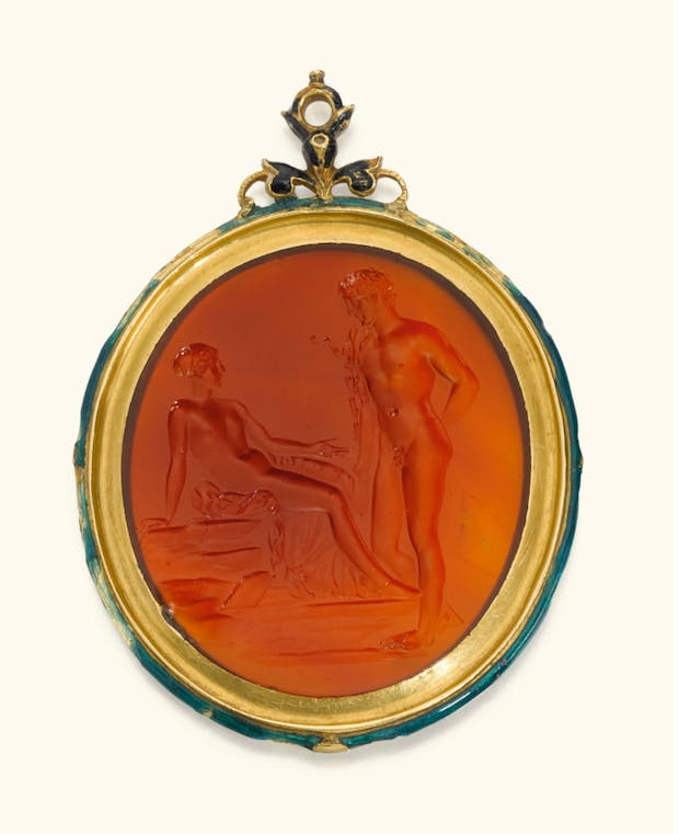Gem with Aphrodite and Adonis (c.25 BC), Courtesy of the J. Paul Getty Museum