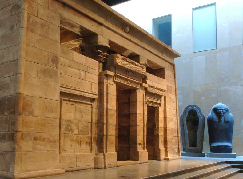 Temple of Taffeh, displayed in the entrance hall of the Dutch National Museum of Antiquities, Leiden.