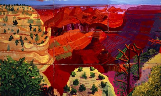 9 Canvas Study of the Grand Canyon (1998), David Hockney. © David Hockney / Photo Credit: Richard Schmidt