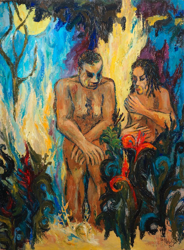 Adam and Eve (1965), Uche Okeke. Courtesy of Bonhams. (£20,000-30,000)