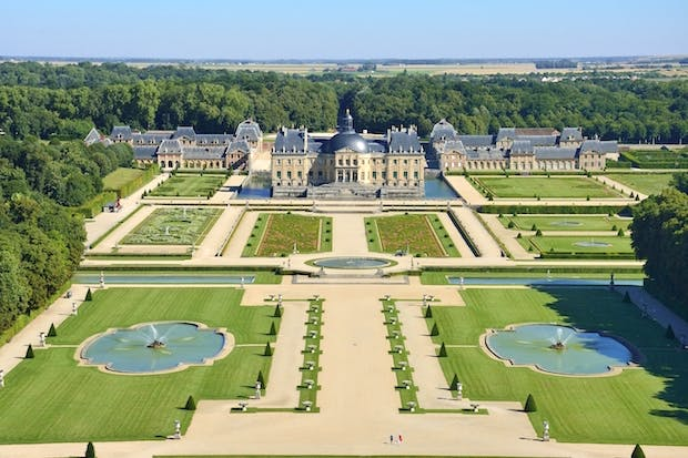 Vaux-le-Vicomte, designed for Nicolas Fouquet by the architect Louis Le Vau and the garden designer André Le Nôtre in the mid 17th century.