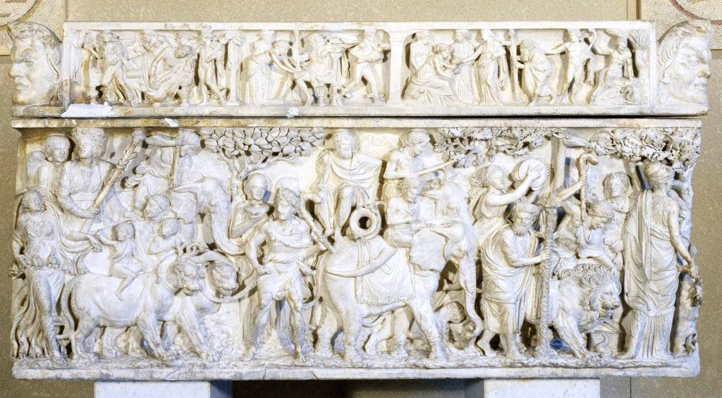 This 2nd-century AD sarcophagus showing the Triumph of Dionysos was acquired by Henry Walters in 1902, with the permission of the Italian government.