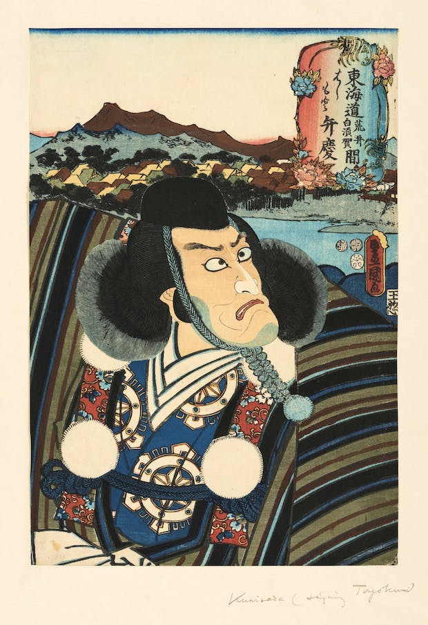 Head of an Actor (c. 1844-64), Utagawa Kunisada. © William Morris Gallery, London Borough of Waltham Forest