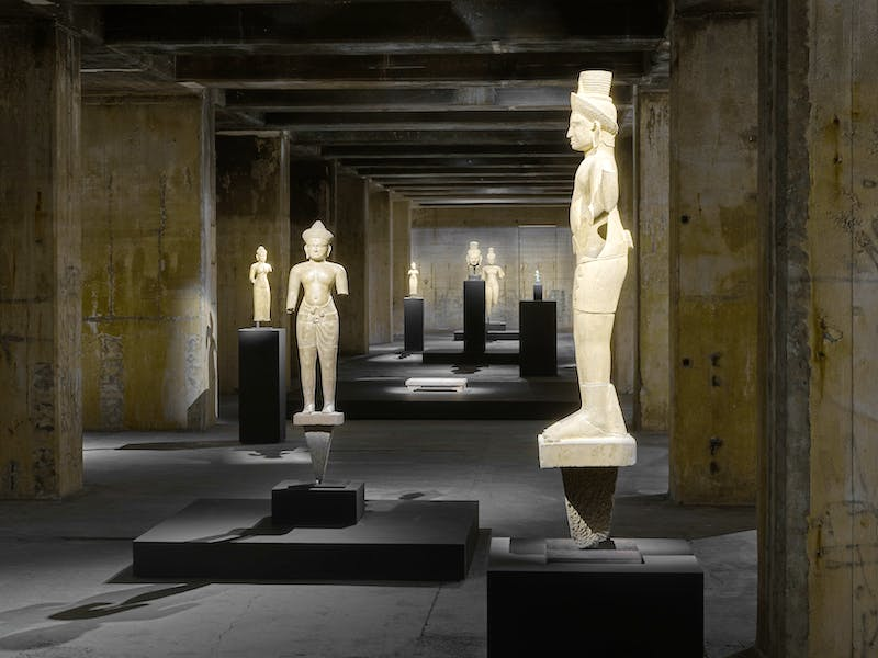 Khmer sculpture from the 7th–13 century, installation view, Feuerle Collection, Berlin. Photo: def image; © The Feuerle Collection
