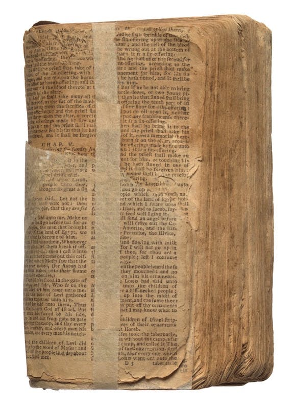 Bible belonging to Nat Turner, 1830s. National Museum of African American History and Culture, Washington, D.C.
