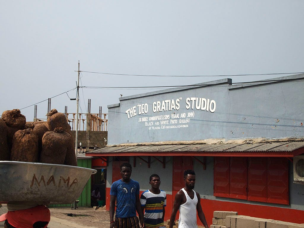 Deo Gratias, the oldest photo studio in Accra, is situated in James Town. Photo: Stephanie Dieckvoss