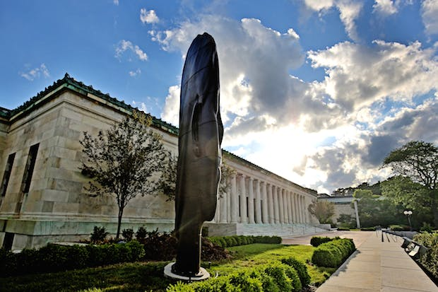 Installation view of Paula (2013), Jaume Plensa. © Jaume Plensa. Photograph by Andrew Weber, courtesy of the Toledo Museum of Art.