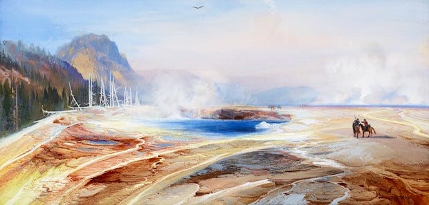 Big Springs in Yellowstone Park (1872), Thomas Moran. Courtesy of the Philadelphia Museum of Art