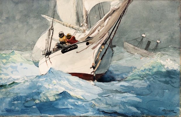 Diamond Shoal (1905), Winslow Homer. Courtesy of the Philadelphia Museum of Art