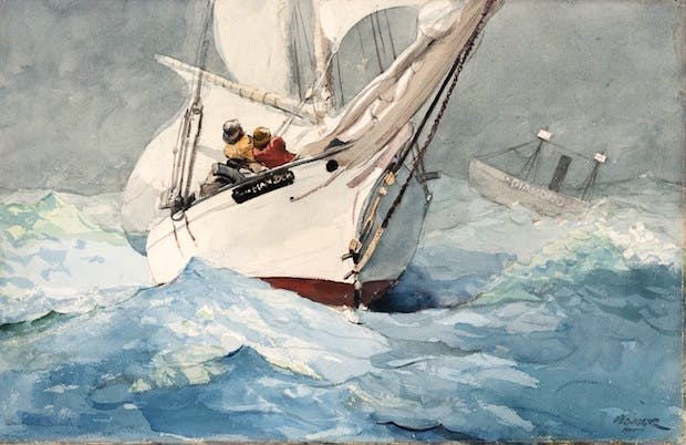 Diamond Shoal (1905), Winslow Homer. Courtesy of the Philadelphia Museum of Art