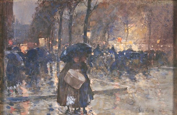 Boulevard at Night, Paris (1889), Childe Hassam. Courtesy of the Philadelphia Museum of Art
