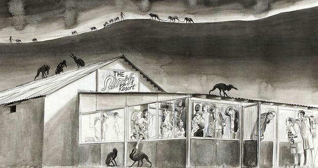 Untitled (The Ninth Resort) (detail; 2010), Charles Avery. Courtesy the artist and David Roberts Collection, London