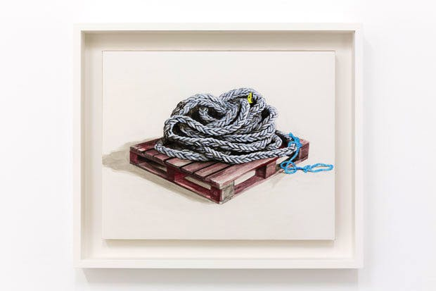 Untitled (Rope on Pallet) (2016), Charles Avery. Courtesy the artist. Photo: Tim Bowditch
