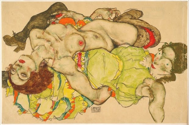 Female Couple (1915), Egon Schiele. Albertina, Vienna