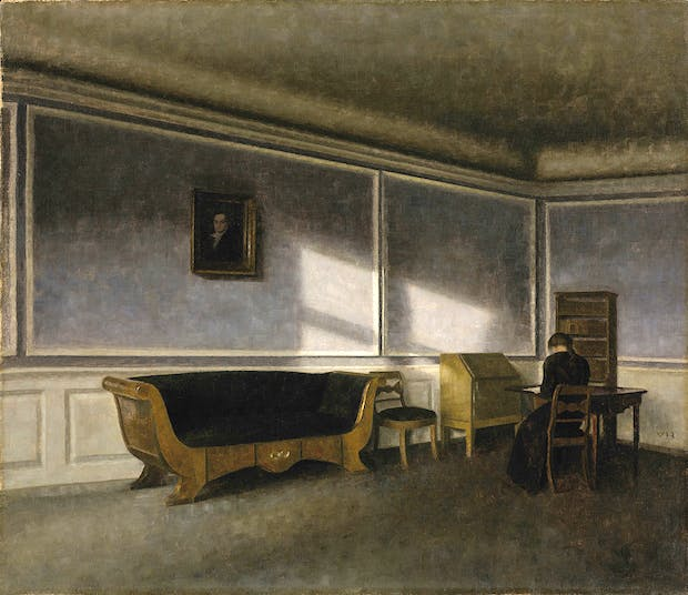 Sunshine in the Drawing Room (Solskin i dagligstuen) (1910), Vilhelm Hammershøi. Photo: NGC