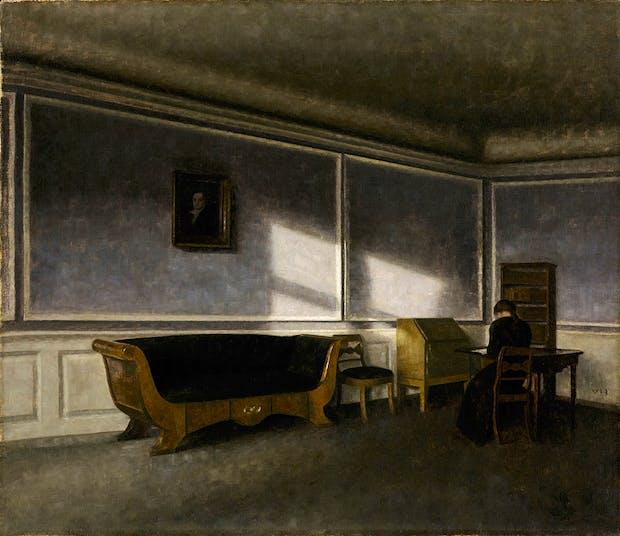 Sunshine in the Drawing Room (Solskin i dagligstuen) (1910), Vilhelm Hammershøi. Photo: NGC