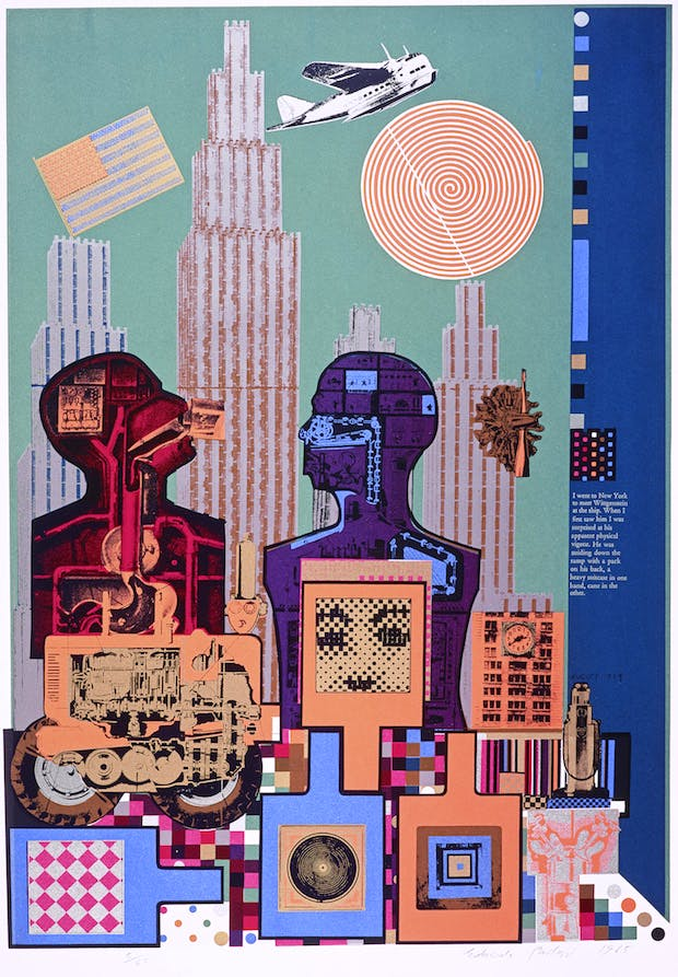Wittgenstein in New York (from the As is When portfolio) (1965), Eduardo Paolozzi. © Trustees of the Paolozzi Foundation, licensed by DACS
