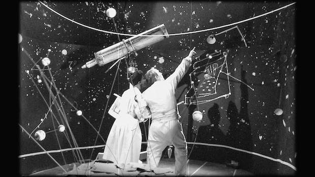 The Refusal of Time (film still) (2012), William Kentridge with collaboration of Philip Miller, Catherine Meyburgh and Peter Galison. Courtesy William Kentridge, Marian Goodman Gallery, Goodman Gallery and Lia Rumma Gallery
