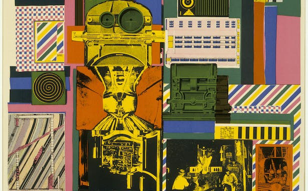 Detail of Conjectures to Identity (1963–64), Eduardo Paolozzi. © Trustees of the Paolozzi Foundation, licensed by DACS