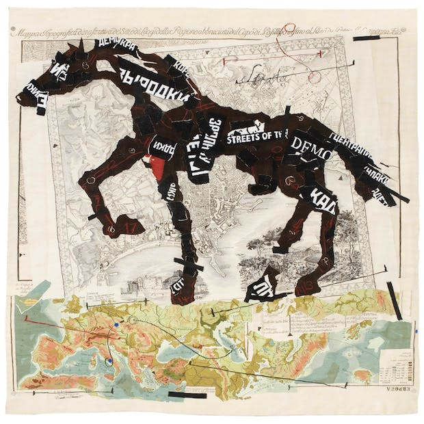 Streets of the City (2009), William Kentridge. Courtesy William Kentridge, Marian Goodman Gallery, Goodman Gallery and Lia Rumma Gallery