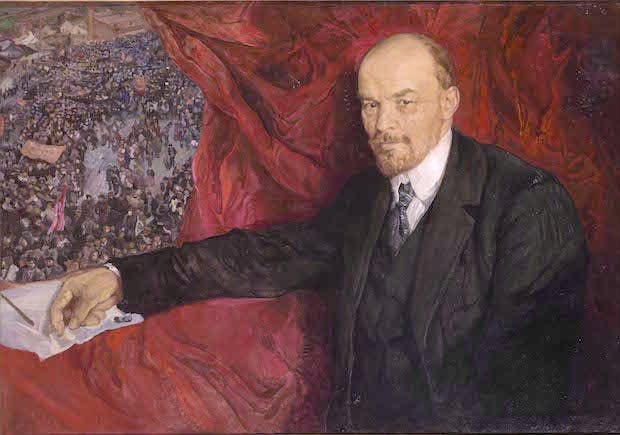 V.I.Lenin and Manifestation (1919), Isaak Brodsky. Photo © Provided with assistance from the State Museum and Exhibition Center ROSIZO