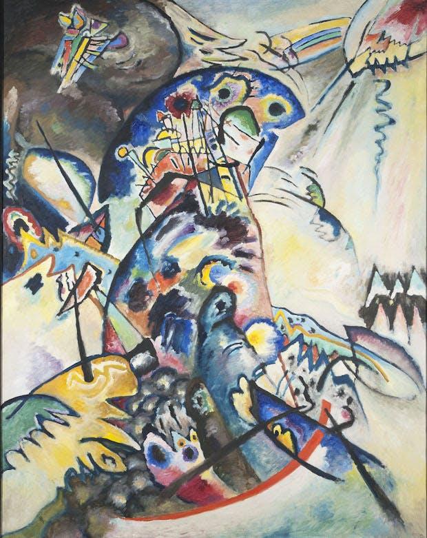 Blue Crest (1917), Wassily Kandinsky. Photo © 2016, State Russian Museum, St. Petersburg