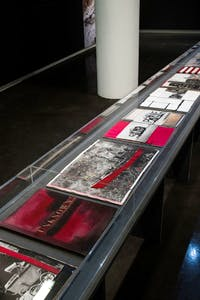 Stephane Duroy's exhibition at Le Bal, Paris. Photo: Anne Pichon