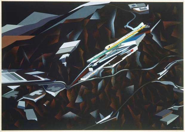 The Peak Project, Hong Kong, China, , (1991), Zaha Hadid. © Zaha Hadid