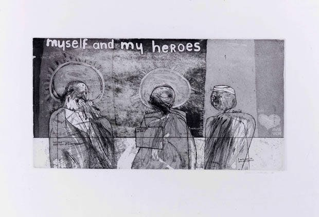 Myself and My Heroes (1961), David Hockney. © The artist