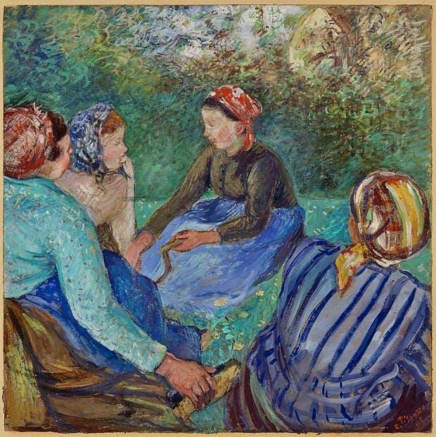 Paysannes au repos (1883), Camille Pissarro. Christie's Images Ltd. (€800,000–€1.2m)