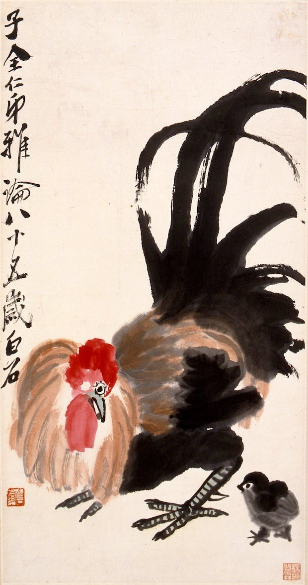 Protecting its Young (1945), Qi Baishi. Courtesy National Gallery Singapore