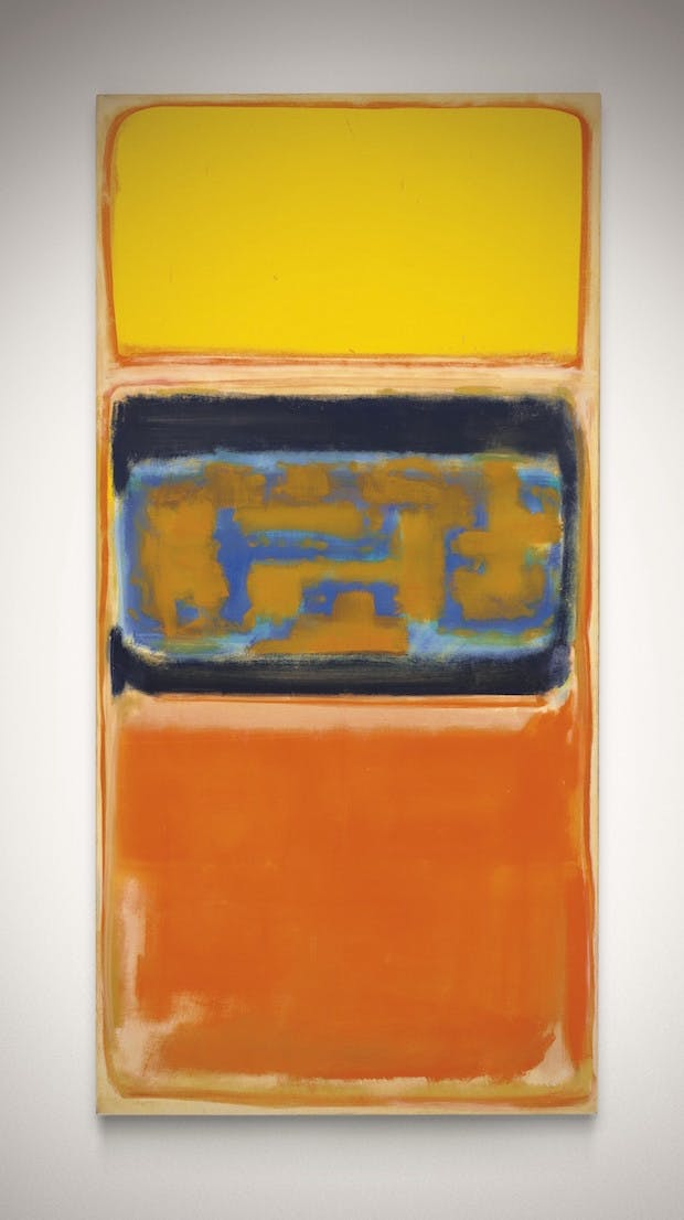 No. 1 (1949), Mark Rothko. Christie's Images Ltd. (£8m–£12m)