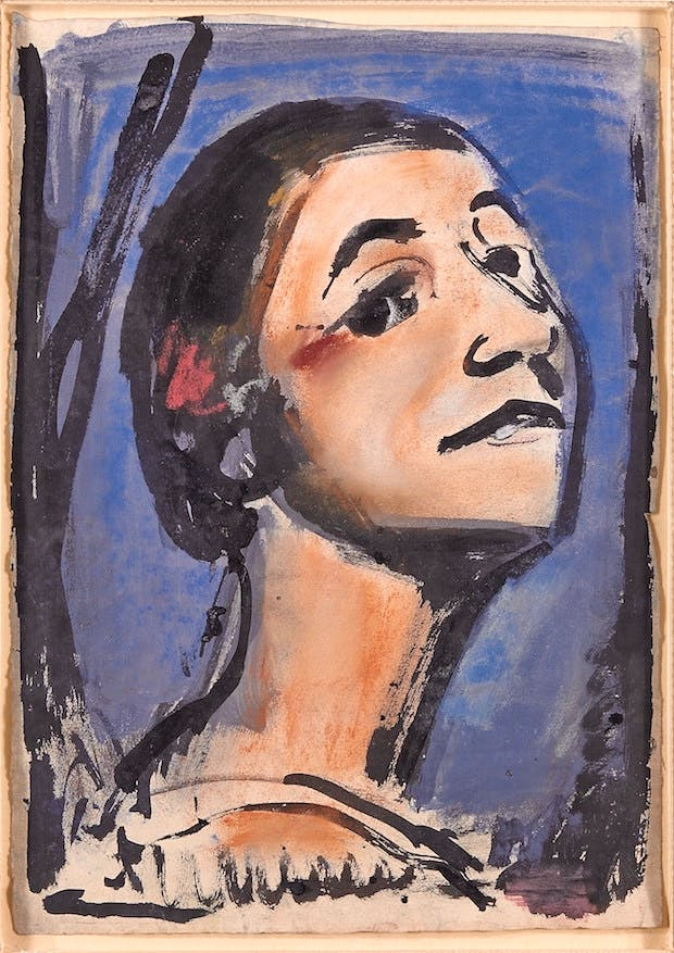 Carmen (c. 1928), Georges Rouault. Christie's Images Ltd. (£10,000–£15,000)
