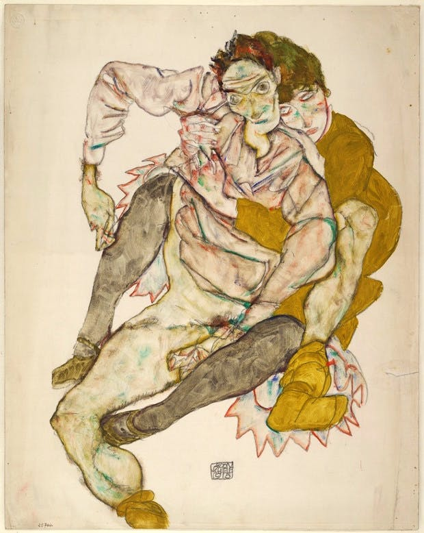 Seated Couple (1915), Egon Schiele. © Albertina, Vienna