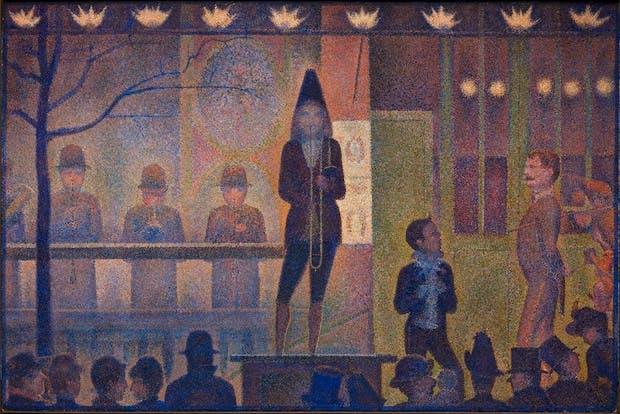 Circus Sideshow (Parade de cirque) (1887–88), Georges Seurat. The Metropolitan Museum of Art