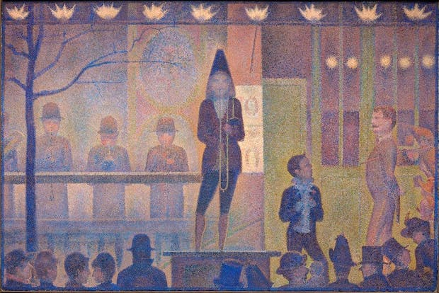 Circus Sideshow (Parade de cirque) (1887-88), Georges Seurat. The Metropolitan Museum of Art, New York