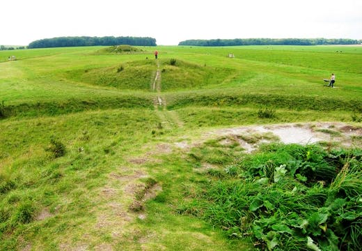 Normanton Down Barrows, a set of Neolithic and early Bronze Age tombs. Heritage bodies have expressed concern that the construction of a road tunnel near Stonehenge may damage the site.