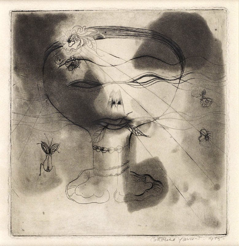 Head with Insect (1935), Catherine Yarrow. Scottish National Gallery of Modern Art © Catherine Yarrow Estate