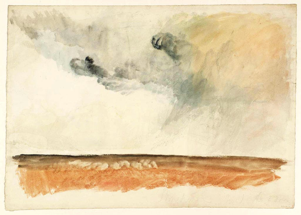 A Colour Study for Stonehenge (1827), Joseph Mallord William Turner. Tate.