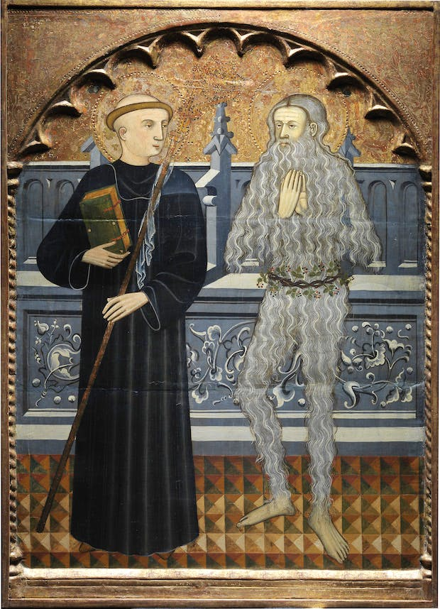 Saints Benedict and Onuphrius (c. 1410), attributed to Pere Vall. Photo courtesy of Sam Fogg, London