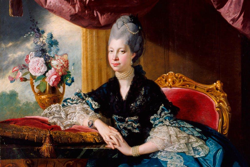 Queen Charlotte (1771), Johan Joseph Zoffany. Royal Collection Trust, UK, © Her Majesty Queen Elizabeth II 2016