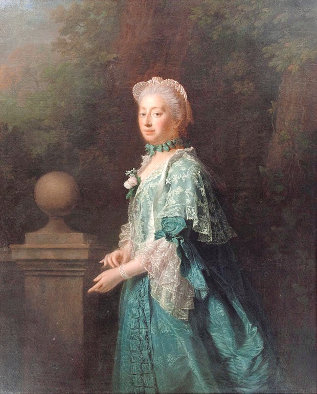 Augusta, Dowager Princess of Wales (1769), Allan Ramsay. Collection of SKH der Prinz von Hanover