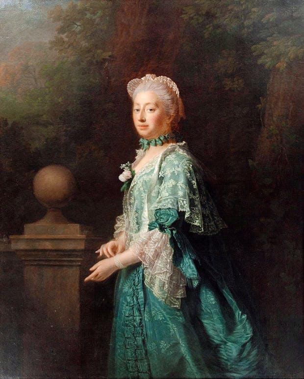 Augusta, Dowager Princess of Wales (1769), Allan Ramsay. Collection of SKH der Prinz von Hanover
