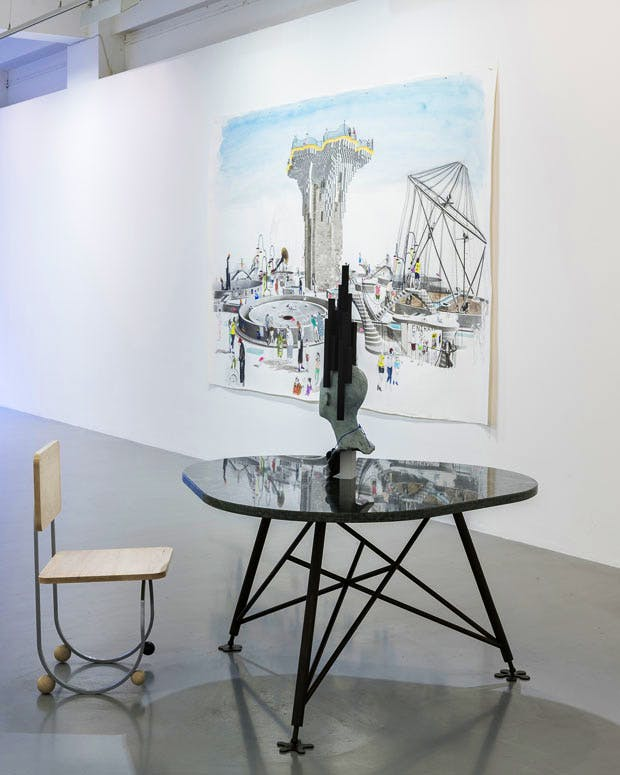 Installation view, 'Charles Avery, The People and Things of Onomatopeia: Part 2' at Pilar Corrias gallery, London. Courtesy the artist and Pilar Corrias Gallery, London. Photo: Damian Griffiths