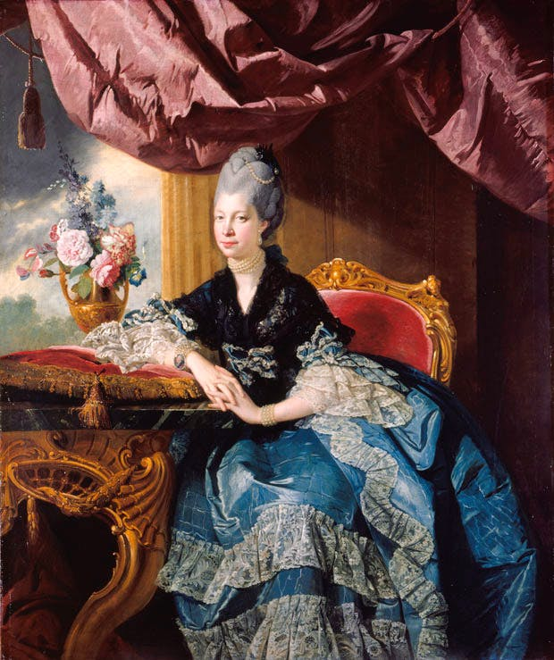 Queen Charlotte (1771), Johan Joseph Zoffany. Royal Collection Trust, UK, © Her Majesty Queen Elizabeth II 2016